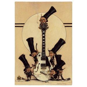 Carte Postale De Jean-Baptiste Monge, Rock, les Lutins à la Guitare