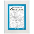 Chevaliers, frise à colorier : Coloriage de chevalier de Anne Yvonne Gilbert aux éditions Quatre fleuves