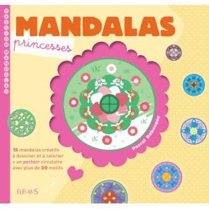 Livre de coloriages Mandalas princesses aux éditions Fleurus