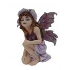 Fée lutine «Hendara», une figurine de fée violette de la collection «Fées lutines»