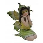 Fée lutine «Jédémia», une figurine de fée verte de la collection «Fées lutines»