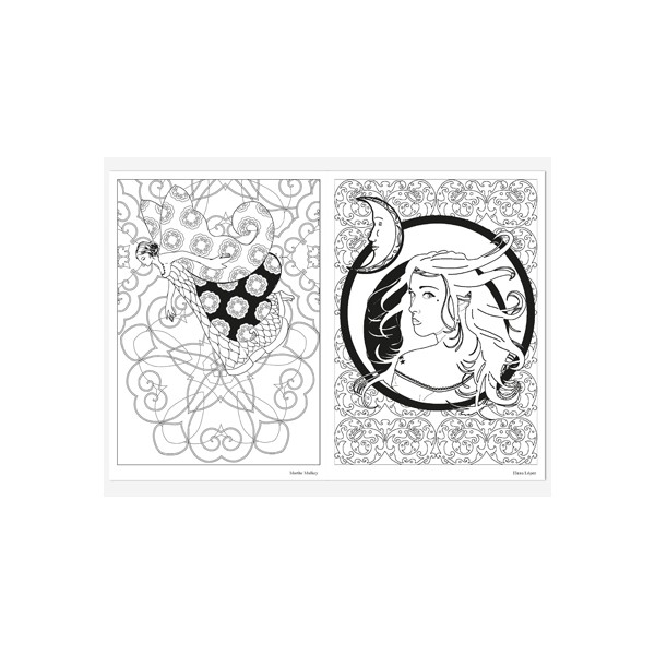 f u00e9es  coloriage adulte  carnet d u0026 39 art th u00e9rapie de coloriages anti