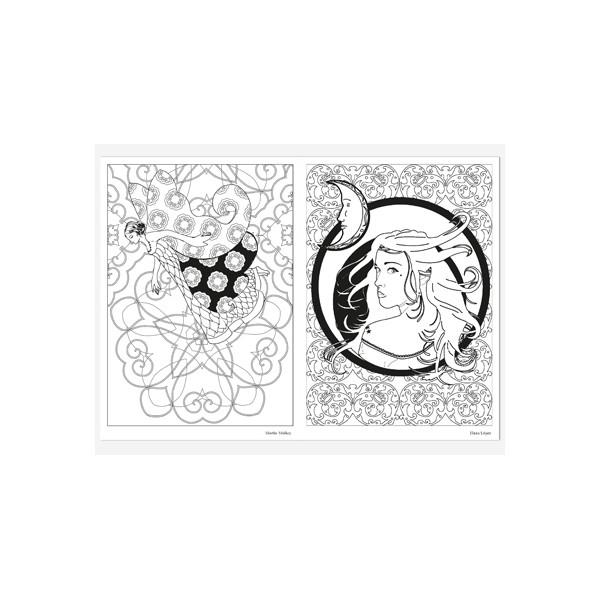F es coloriage adulte carnet d 39 art th rapie de coloriages anti stress - Coloriage art therapie ...