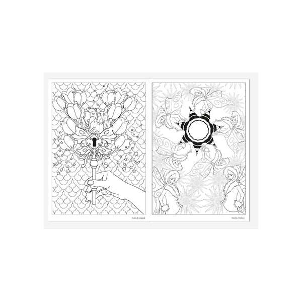 F es coloriage adulte carnet d 39 art th rapie de - Coloriage art therapie a imprimer ...