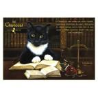 Chavocat, carte postale de chat de Séverine Pineaux. Coll. Métiers des chats, éd. Au Bord des Continents
