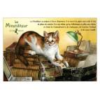 Minetditeur, carte postale de chat de Séverine Pineaux. Coll. Métiers des chats, éd. Au Bord des Continents