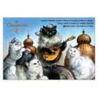 Chasanova, carte postale de chat de Séverine Pineaux. Coll. Métiers des chats, éd. Au Bord des Continents