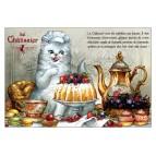 Châtissier, carte postale de chat de Séverine Pineaux. Coll. Métiers des chats, éd. Au Bord des Continents