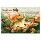 Chapiculteur, carte postale de chat de Séverine Pineaux. Coll. Métiers des chats, éd. Au Bord des Continents