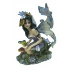 Figurine de fée sexy au papillon bleu