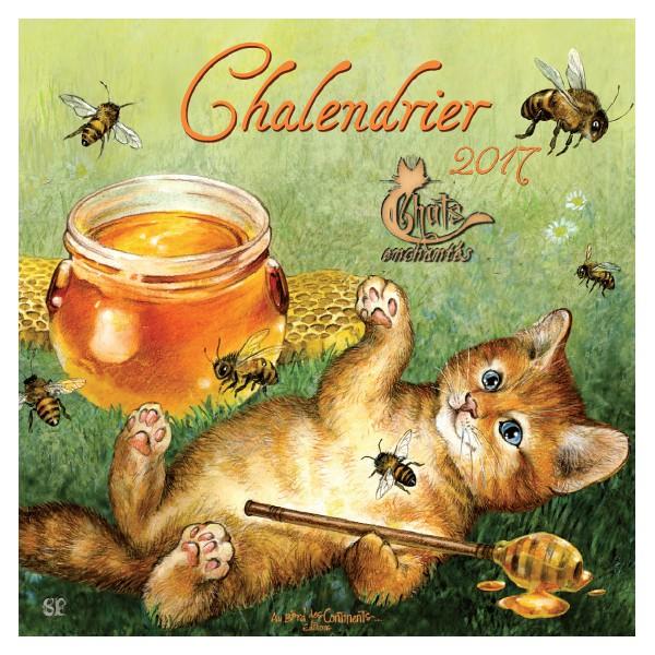 Chalendrier 2017 le calendrier des chats de s verine pineaux - Grand calendrier mural ...