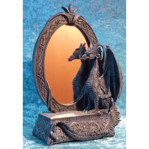 Miroir dragon à poser avec console
