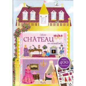 Mon château en autocollants, cahier d'autocollants aux éditions Piccolia