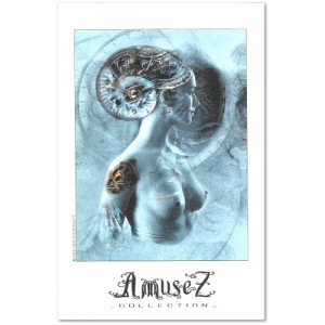 Carte postale d'art de Christophe Dougnac Aurore Fibonacci, L'Univers de Krystoforos