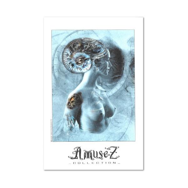 christophe dougnac carte postale d 39 art aurore fibonacci. Black Bedroom Furniture Sets. Home Design Ideas