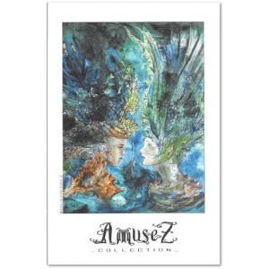 Carte postale d'art de Christophe Dougnac Soeurs Ravel, L'Univers de Krystoforos