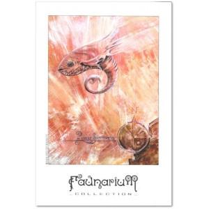 Carte postale d'art de Christophe Dougnac Piscis Somniatus, L'Univers de Krystoforos