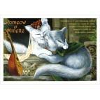 Romeow et Minette, carte postale de chat de Séverine Pineaux, coll. Chats de la littérature