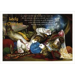 Lady of Chat-lott, carte postale de chat de Séverine Pineaux, coll. Chats de la littérature