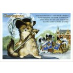 Chartagnan, carte postale de chat de Séverine Pineaux, coll. Chats de la littérature
