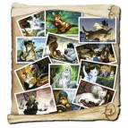 12 cartes postales Chats de la littérature de Séverine Pineaux