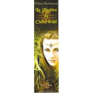 Marque pages original Le Mystère du Chêne brûlé de Céline Guillaume, illustré par Séverine Pineaux