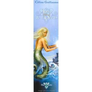 Marque pages original L'élue de l'Océan de Céline Guillaume, illustré par Séverine Pineaux