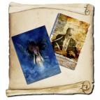 2 Tirés à part de Christophe Dougnac, affichettes Voie y Âge, L'Univers de Krystoforos