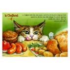 Carte postale de chat de Séverine Pineaux, Le Chaffamé, coll. Caractère de chat. Editions Au Bord des Continents...