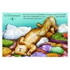 Carte postale de chat de Séverine Pineaux, Le Charesseux, coll. Caractère de chat. Editions Au Bord des Continents...