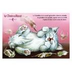 Carte postale de chat de Séverine Pineaux, Le Chatouilleux, coll. Caractère de chat. Editions Au Bord des Continents...