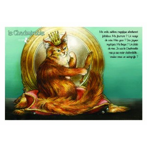 Carte postale de chat de Séverine Pineaux, Le Chadmirable, coll. Caractère de chat. Editions Au Bord des Continents...