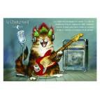 Carte postale de chat de Séverine Pineaux, Le Chalternatif, coll. Caractère de chat. Editions Au Bord des Continents...