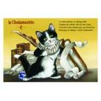 Carte postale de chat de Séverine Pineaux, Le Chalexandrin, coll. Caractère de chat. Editions Au Bord des Continents...