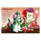 Carte postale de chat de Séverine Pineaux, Le Chamoureux, coll. Caractère de chat. Editions Au Bord des Continents...