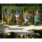Les fées miniatures, lot de 4 petites figurines de fées