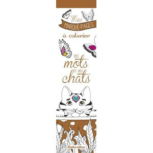 Mes marque-pages à colorier Des Mots et des Chats, 52 marque pages chat de Marica Zottino aux éditions Rustica
