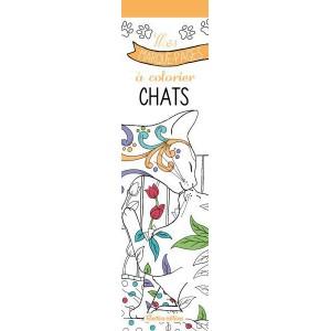 Mes marque-pages à colorier Chats, 54 marque pages chat de Marica Zottino aux éditions Rustica