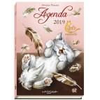 Petit agenda de poche Chats enchantés 2019, agenda de Séverine Pineaux, éd. Au Bord des Continents...