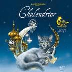 Chalendrier 2019 calendrier des Chats enchantés de Séverine Pineaux, calendrier mural des éditions Au Bord des Continents...
