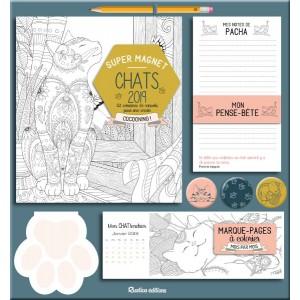 Super magnet Chats 2019, tableau magnétique agenda, calendrier, mémo... éd. Rustica
