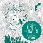 Calendrier à colorier Esprits de la Nature 2019 de Marica Zottino, calendrier mensuel éd. Rustica