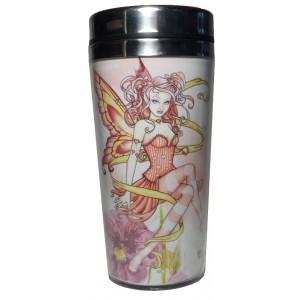 Mug thermos fée rose
