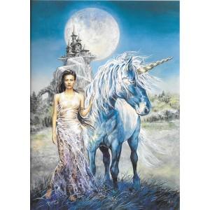 Affichette féerique La Dame à la Licorne de Séverine Pineaux