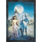 Carte postale féerique Dame à la licorne de Séverine Pineaux