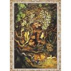 L'arbre-sorcière, carte postale féerique de Séverine Pineaux, coll. Ysambre