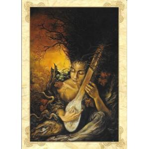 L'automne, carte postale féerique de Séverine Pineaux, coll. Ysambre