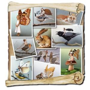10 cartes postales féeriques de Erlé Ferronnière Pixies série 1