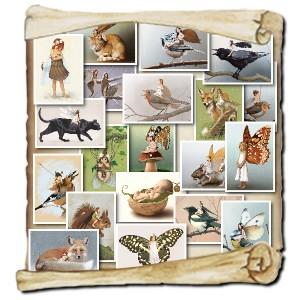 20 cartes postales de Pixies de Erlé Ferronnière