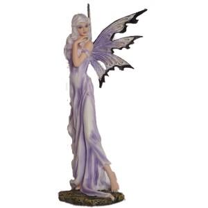 Grande figurine fée violette de la collection Flower Fairies